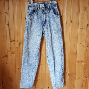 80's distressed Acid wash High Waisted mom Jeans